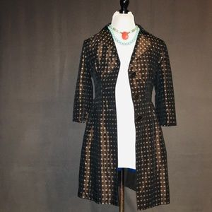 MAXSTUDIO// brown silk square patterned jacket S